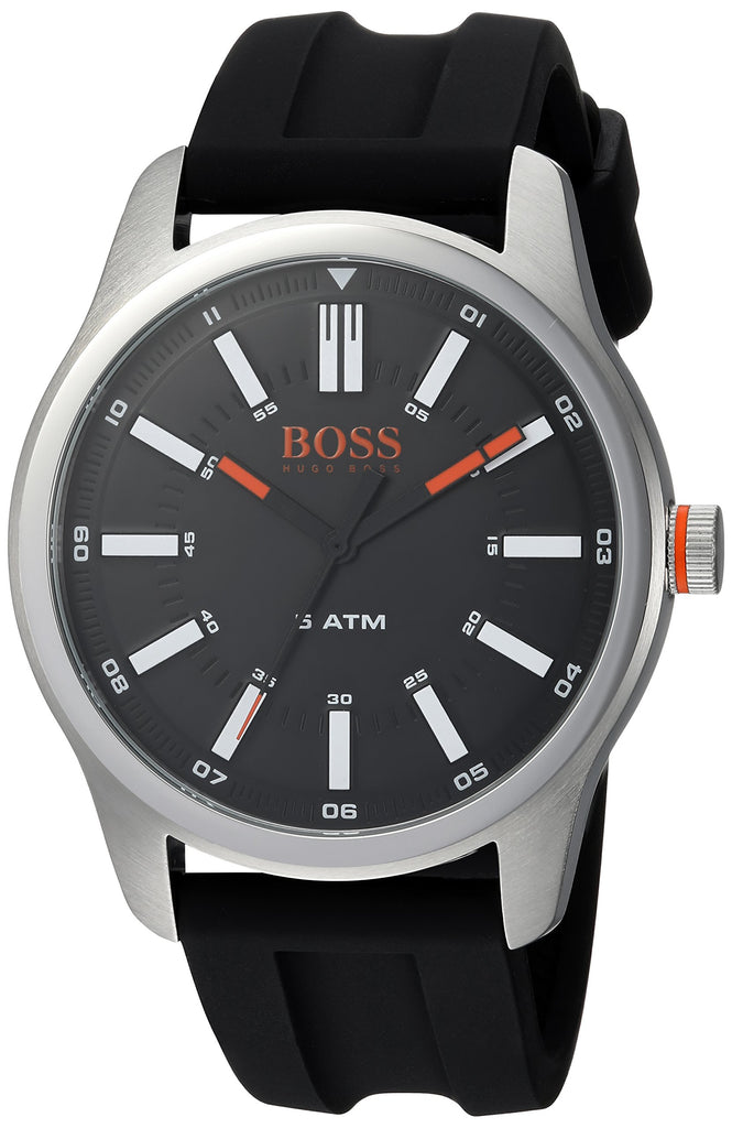 Hugo Boss Orange Dublin Black Rubber Mens Watch