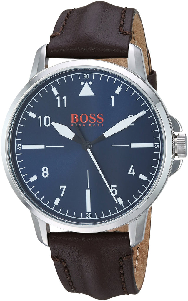 Hugo Boss Orange Chicago Brown Leather Mens Watch