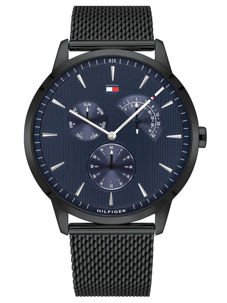 Tommy Hilfiger Multi-Function Black Mesh Mens Watch
