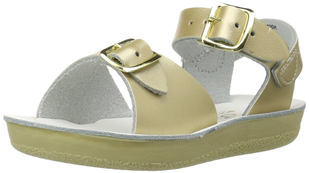 Salt Water Sandals by Hoy Sun-San Surfer -  Gold - 7 Toddler
