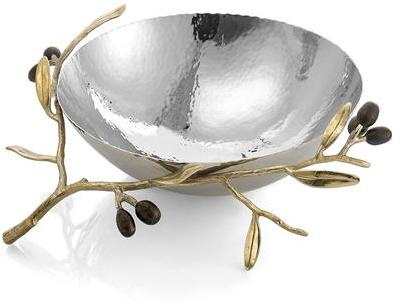 Michael Aram Olive Branch Gold Serving Bowl Medium -
