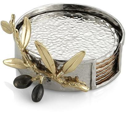Michael Aram Olive Branch Gold Coaster Set -