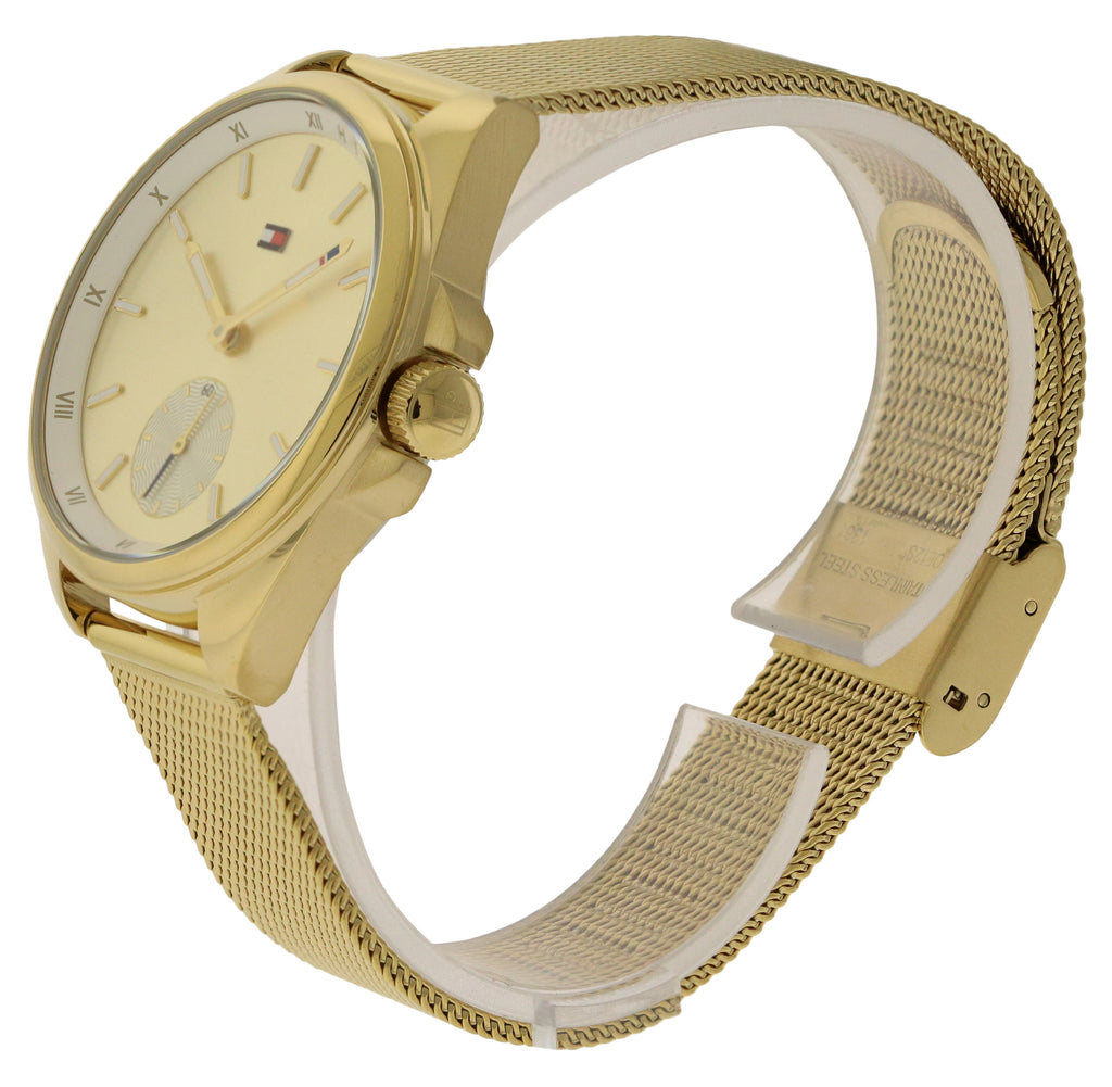 Tommy Hilfiger Gold Tone Stainless Steel Ladies Watch