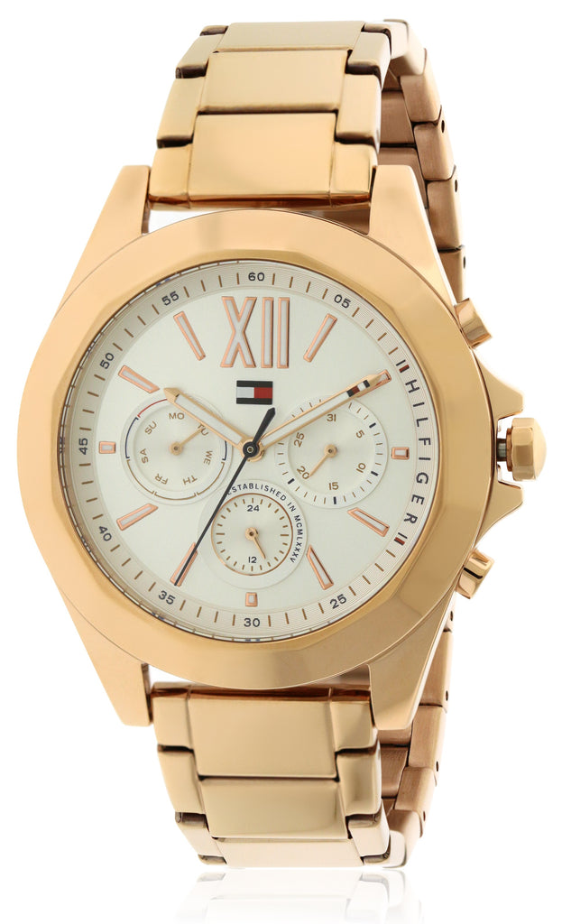 Tommy Hilfiger Chelsea Rose Gold-Tone Chronograph Ladies Watch