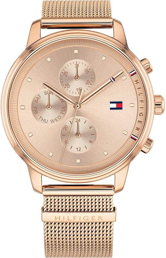 Tommy Hilfiger Rose Gold-Tone Mesh Chronograph Ladies Watch