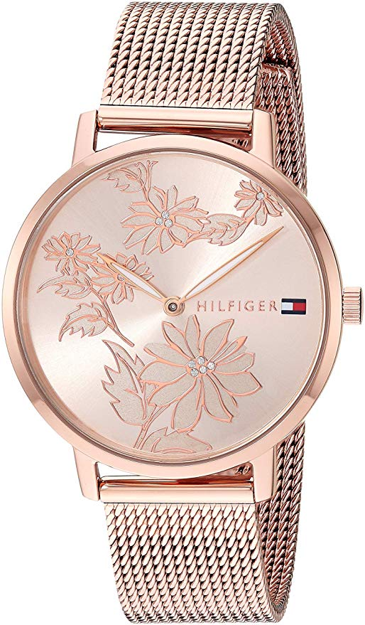 Tommy Hilfiger Rose Gold-Tone Mesh Ladies Watch