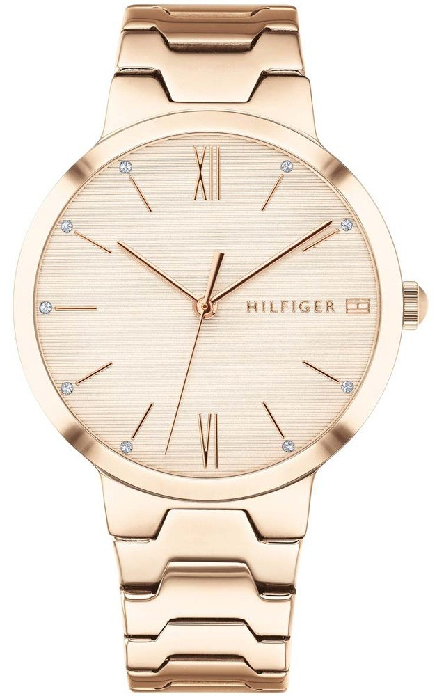 Tommy Hilfiger Rose Gold-Tone Monochrome Ladies Watch