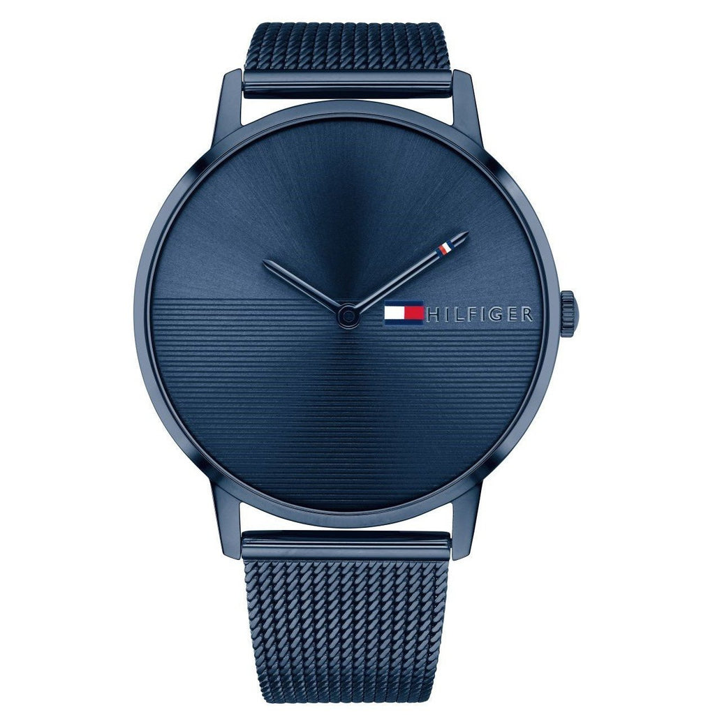 Tommy Hilfiger Blue Stainless Steel Mesh Ladies Watch