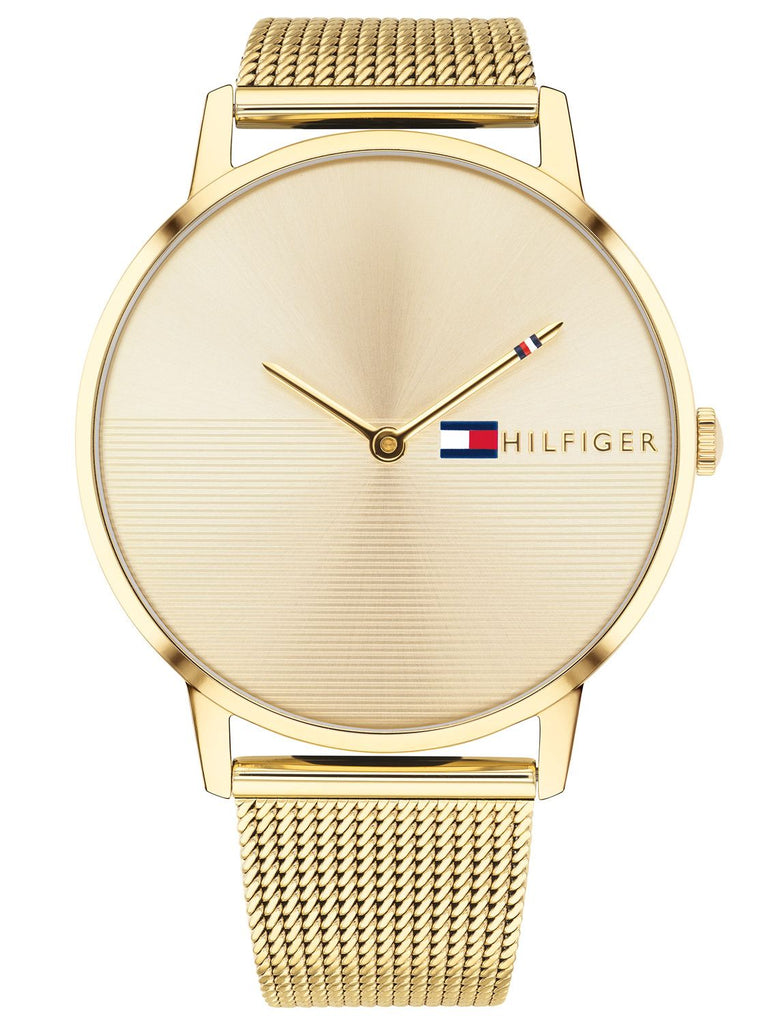 Tommy Hilfiger Gold-Tone Mesh Ladies Watch