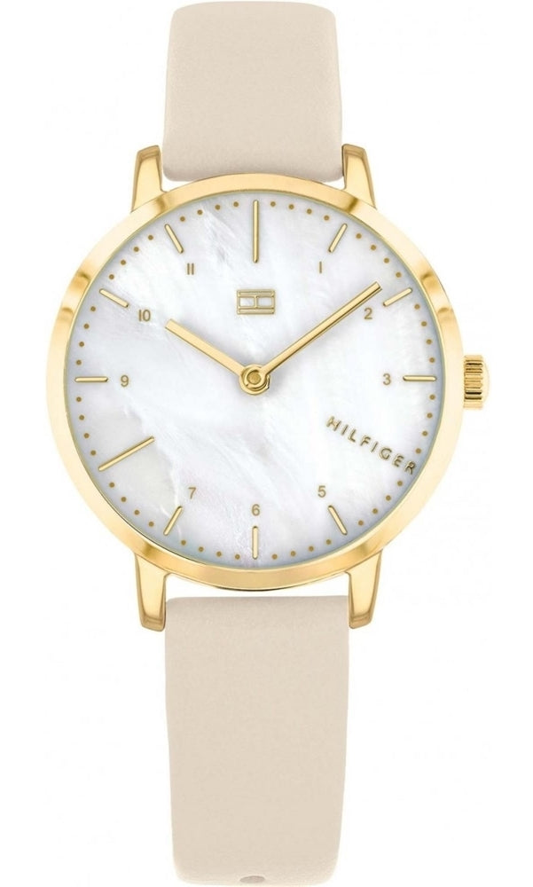 Tommy Hilfiger Gold-Tone Leather Ladies Watch