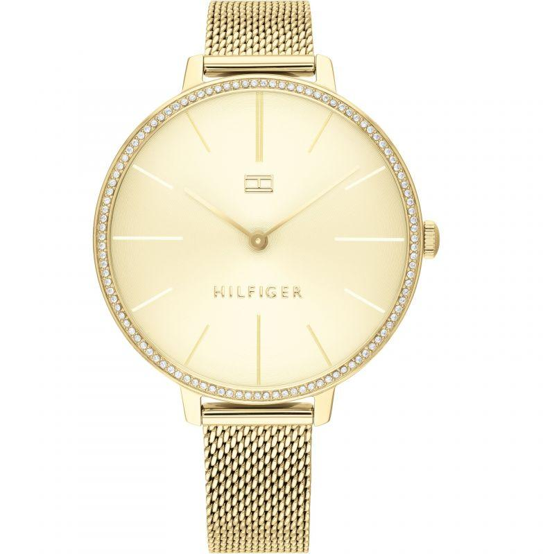Tommy Hilfiger Kelly Gold-Tone Mesh Ladies Watch