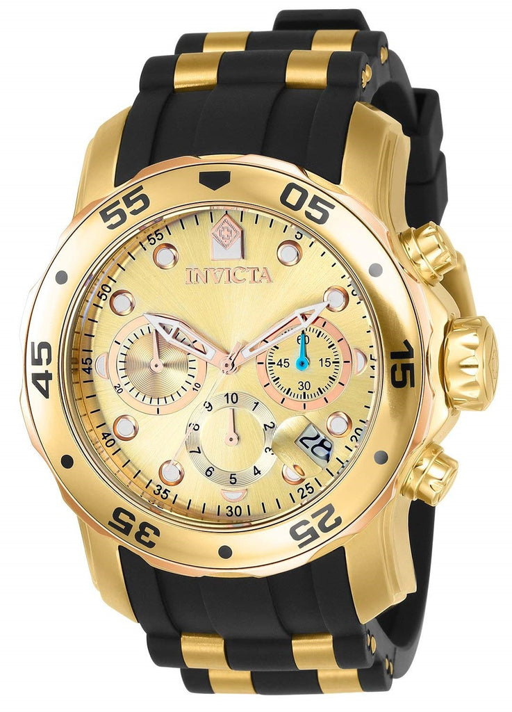 Invicta Pro Diver Silicone Chronograph Mens Watch