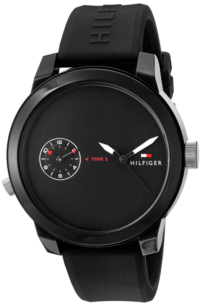 Tommy Hilfiger Cool Sport Black Silicone Mens Watch