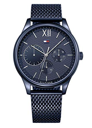 Tommy Hilfiger Blue Stainless Steel Mesh Mens Watch