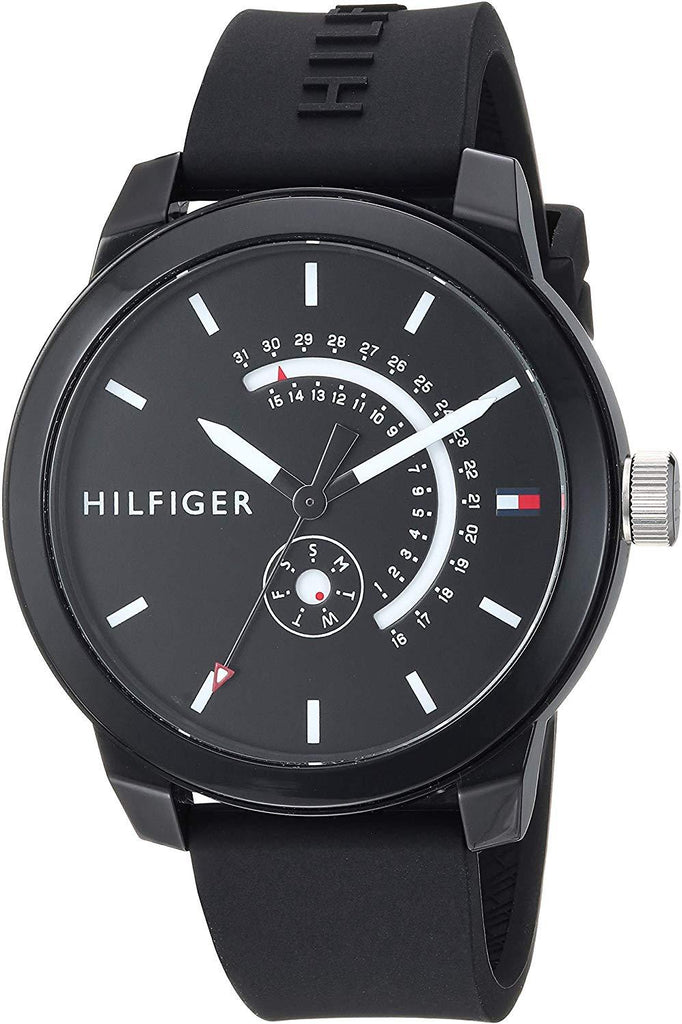Tommy Hilfiger Black Sport Silicone Mens Watch