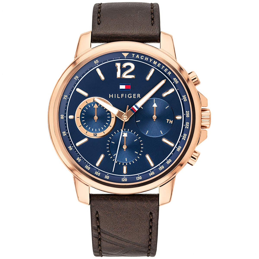 Tommy Hilfiger Brown Leather Mens Watch