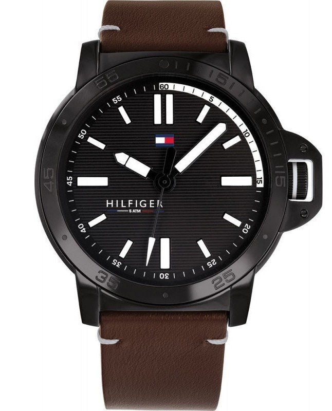 Tommy Hilfiger Diver Leather Mens Watch