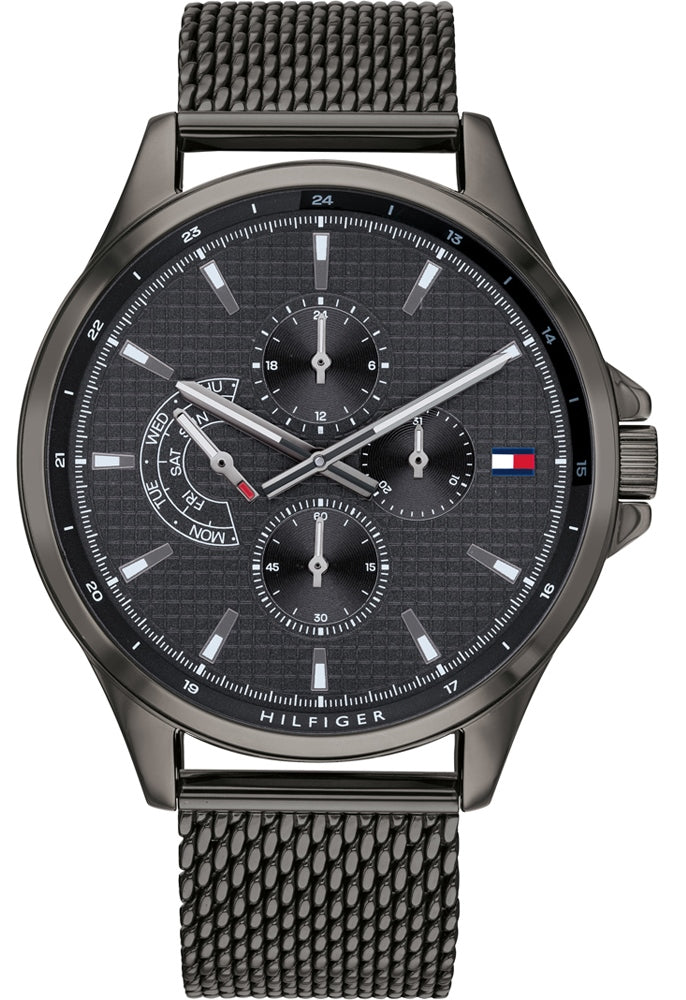 Tommy Hilfiger Multi-Function Grey Mesh Mens Watch
