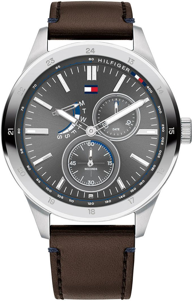 Tommy Hilfiger Austin Multifunction Leather Mens Watch