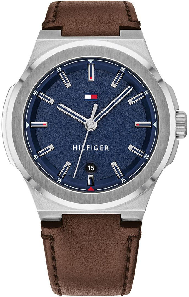Tommy Hilfiger Casual Dark Brown Leather Mens Watch