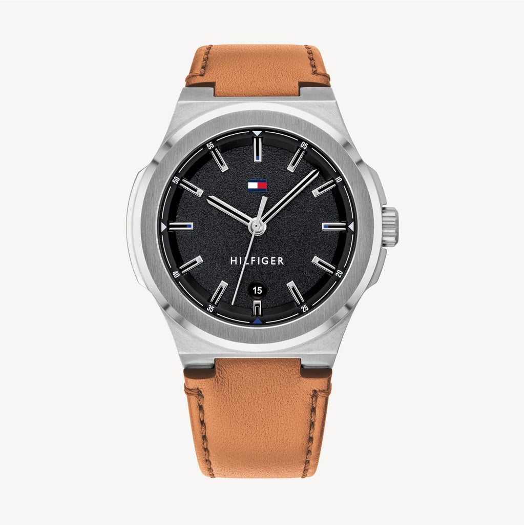 Tommy Hilfiger Casual Light Brown Leather Mens Watch