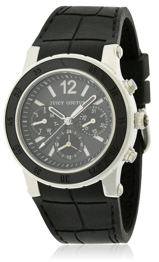 Juicy Couture HRH Black Rubber Ladies Watch
