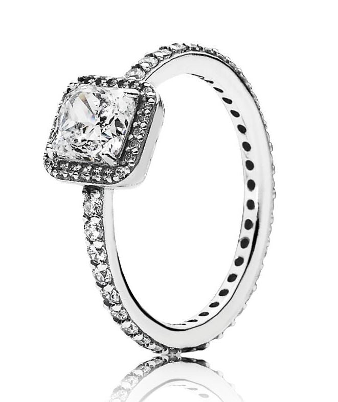 PANDORA Timeless Elegance Clear CZ Ring Size 6 -