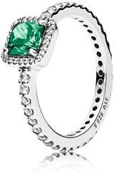 PANDORA Timeless Elegance Ring - Green & Clear CZ -