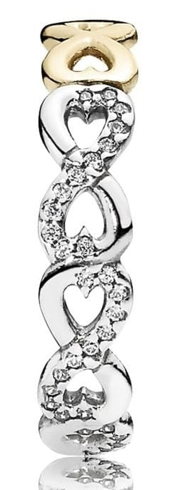 PANDORA Infinite Love Stackable Ring - Clear CZ -