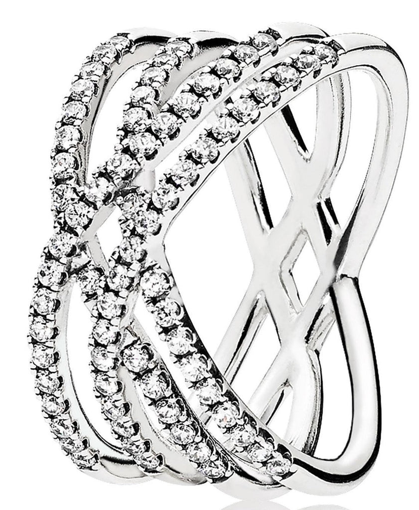 PANDORA Cosmic Lines Ring - Clear CZ