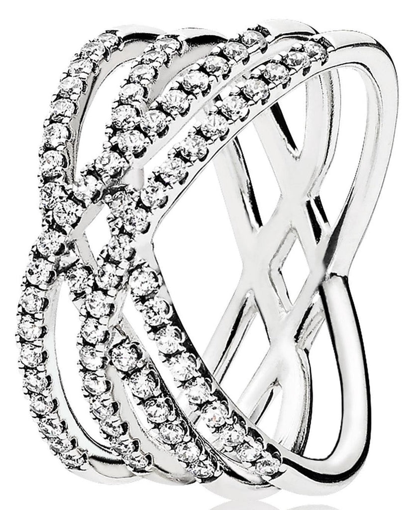 PANDORA Cosmic Lines Ring - Clear CZ -