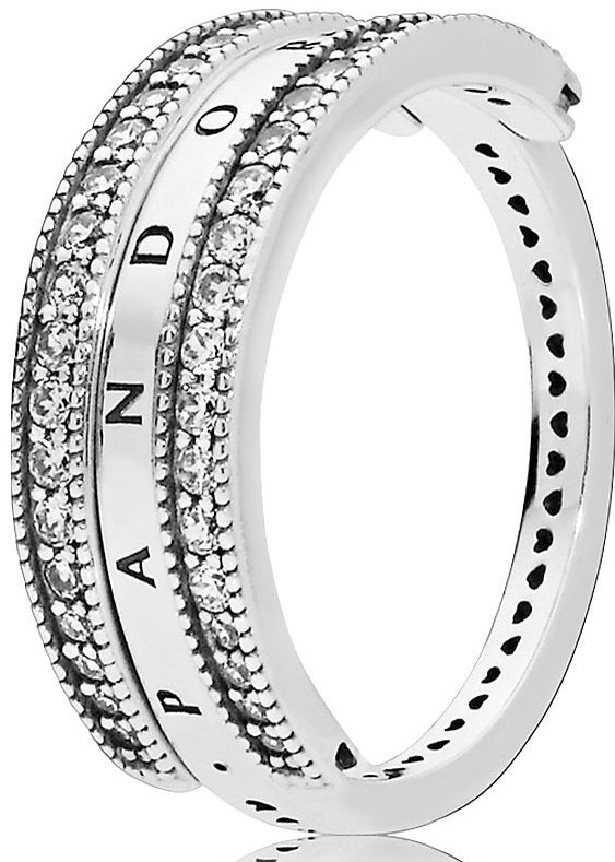 PANDORA Flipping Hearts of PANDORA Ring 52 -