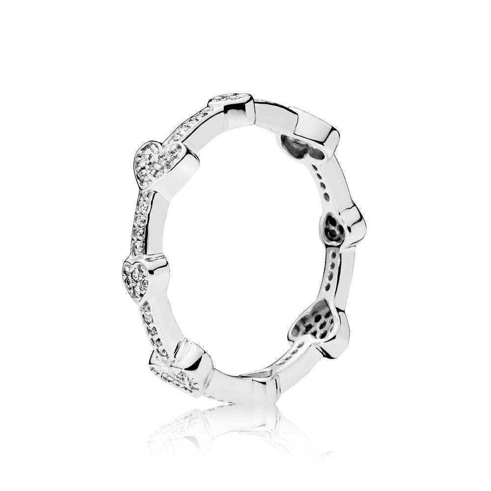 PANDORA Alluring Hearts Ring Size 54 -