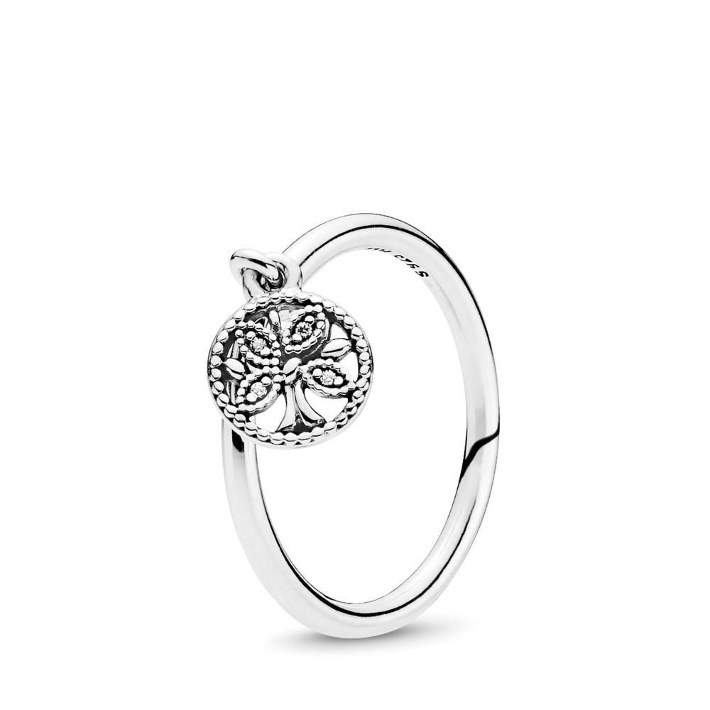PANDORA Tree of Life 925 Sterling Silver Ring - Size: 7.5