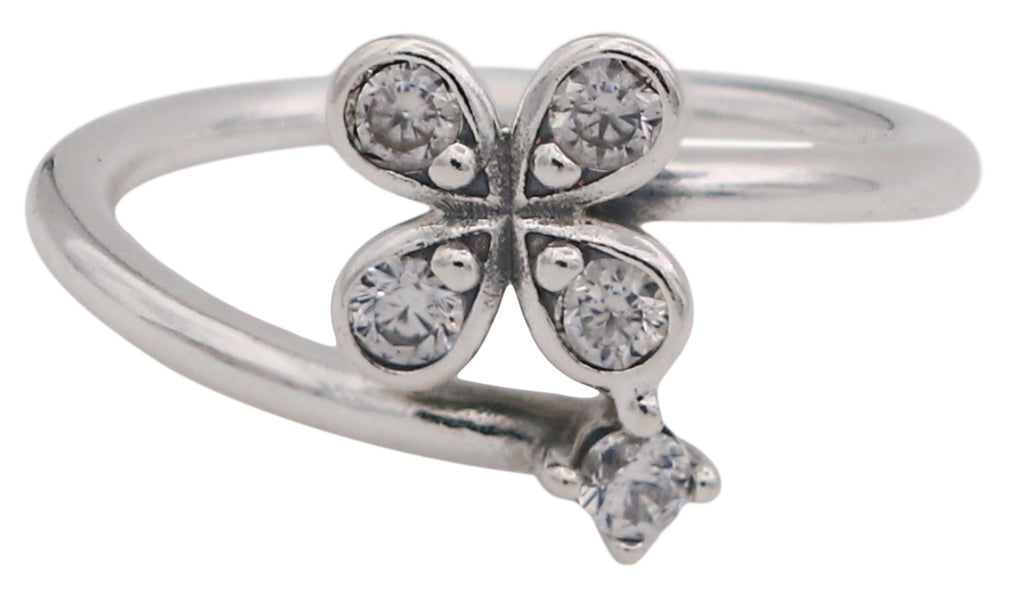 PANDORA Four-Petal Flowers Twisted Ring - 52
