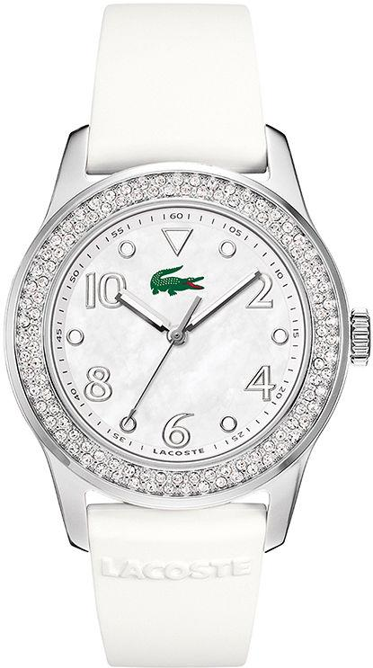 Lacoste Advantage White Rubber Ladies Watch