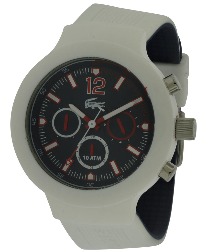 Lacoste Borneo White Silicone Chronograph Mens Watch