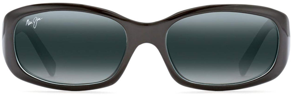 Maui Jim Womens Punchbowl Rectangular Sunglasses - Black With Blue/Neutral Grey Polarized - Small