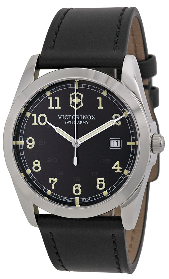 Swiss Army Victorinox Infantry Leather Mens Watch