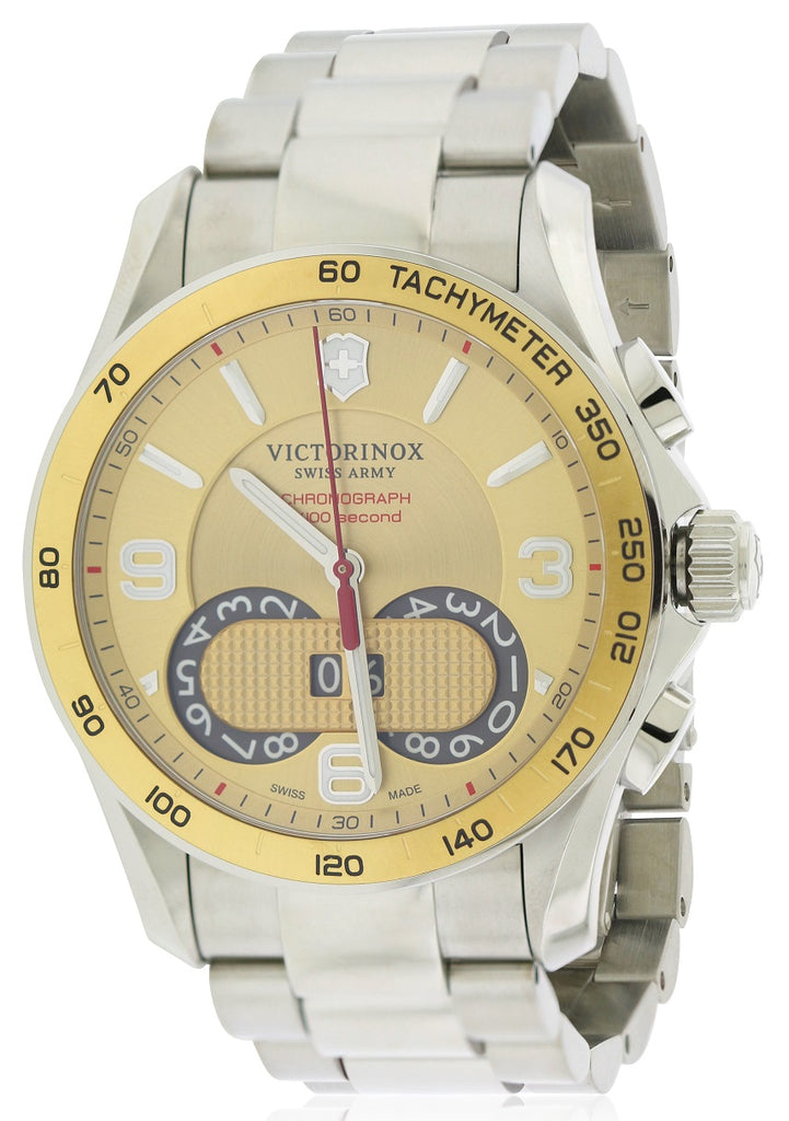 Swiss Army Victorinox Chronograph Stainless Steel Mens Watch