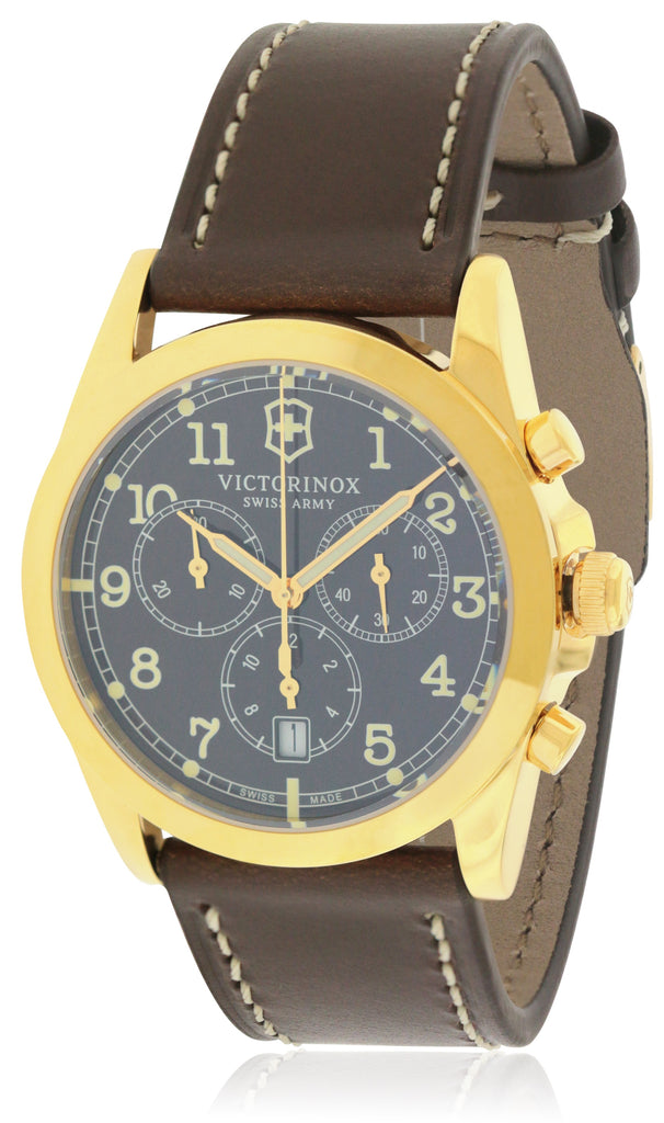 Swiss Army Victorinox Infantry Chronograph Leather Mens Watch