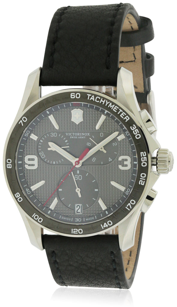 Swiss Army Victorinox Chrono Classic Leather Chronograph Mens Watch