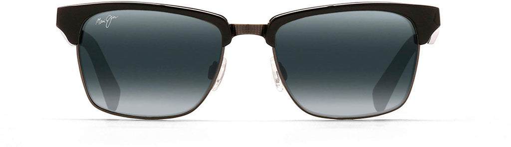 Maui Jim Kawika Square Sunglasses - Black Gloss W/Antique Pewter/Neutral Grey Polarized - Medium