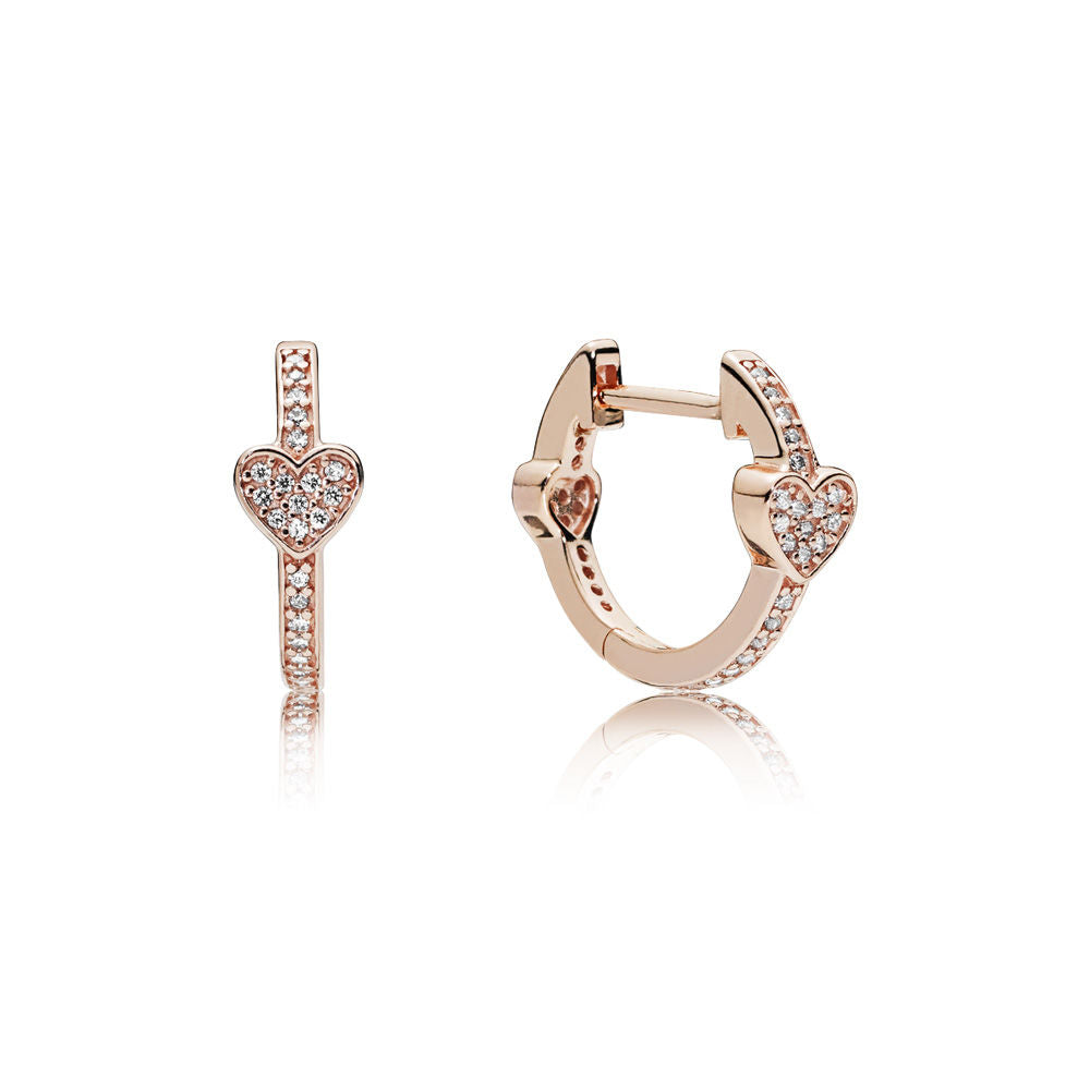 PANDORA Alluring Hearts Hoop Earrings -