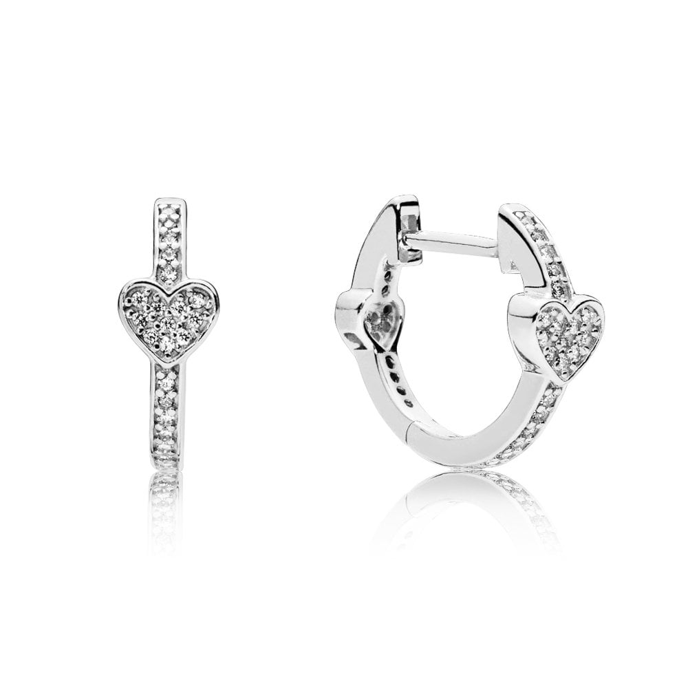 PANDORA Alluring Hearts Hoop Earrings
