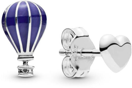 PANDORA Air Balloon and Heart Earring Studs