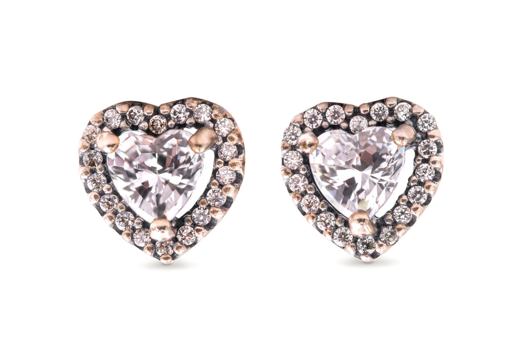 PANDORA Elevated Heart Stud Earrings -