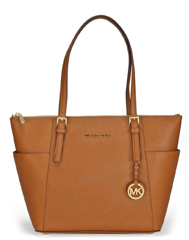 Michael Kors Jet Set Top-Zip Saffiano Leather - Tote - Acorn -