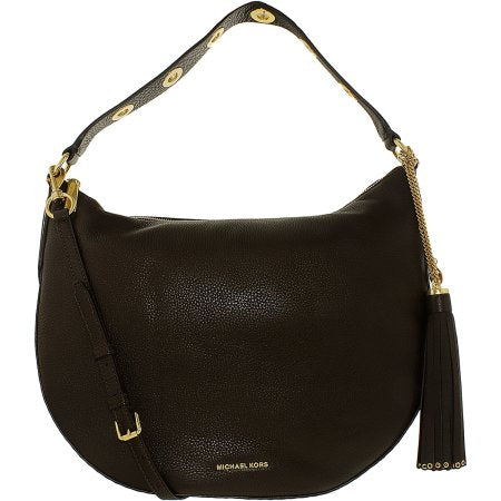 Michael Kors Brooklyn Large Convertible Leather Hobo - Coffee -