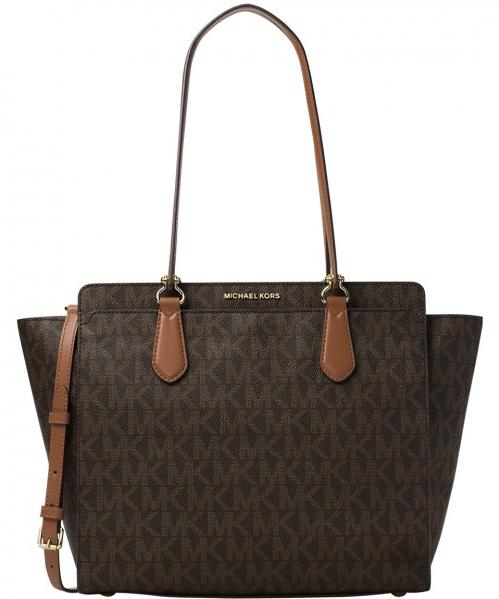 Michael Kors Dee Dee Large Convertible Logo Tote - Brown -